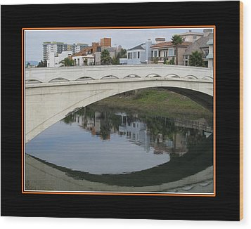 Ballona Creek Bridge Wood Print by Alvin Glass