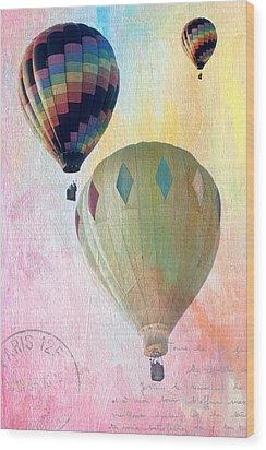 Balloon Flight Wood Print by James Bethanis
