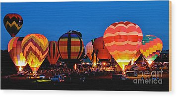 Balloon Glow Wood Print