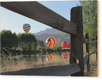 Balloon Launch-ridgway 2012 Wood Print