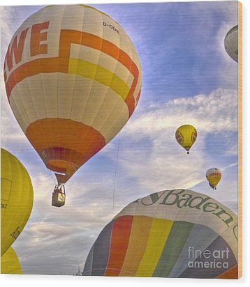 Balloon Ride Wood Print by Heiko Koehrer-Wagner