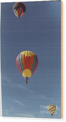 Balloons Trio Wood Print by Stacey Grant