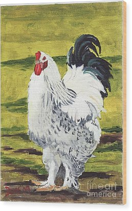 Ballymaloe Cockerel Wood Print