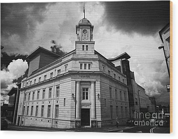 Ballymena Town Hall Now Part Of The Braid Museum And Arts Complex Ballymena  Wood Print by Joe Fox
