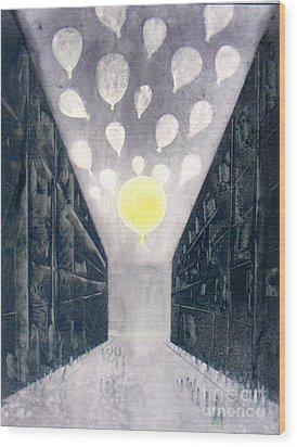 Baloon 10 Wood Print by Abhijit Das