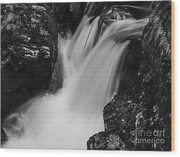 Balquhidder Falls Wood Print by Michael Canning