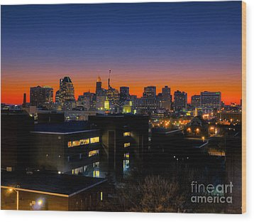 Wood Print featuring the photograph Baltimore At Sunset by Mark Dodd