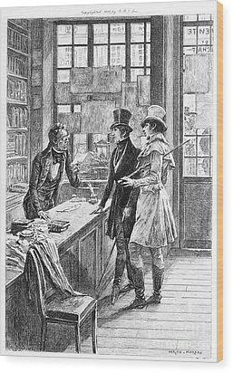 Balzac: Illustration Wood Print by Granger
