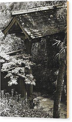 Bamboo Garden -2 Wood Print by Alan Hausenflock