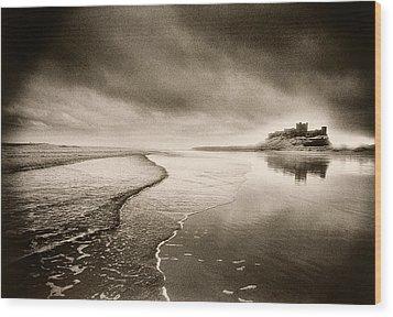 Bamburgh Castle Wood Print by Simon Marsden