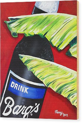 Banana Leaf Series - Barq's Rootbeer Wood Print by Terry J Marks Sr