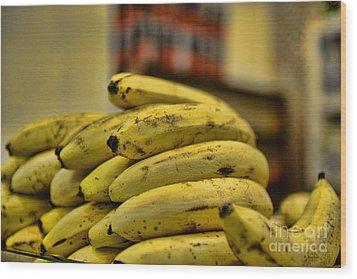 Bananas Wood Print by Paul Ward