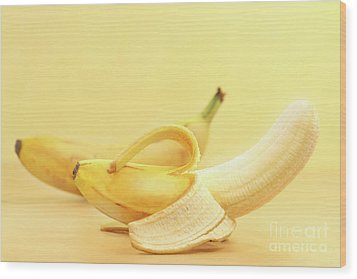 Bananas Wood Print by Sandra Cunningham