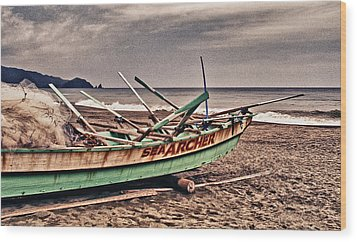 Banca Boat 2 Wood Print by Skip Nall
