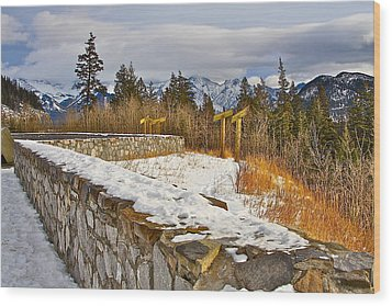 Wood Print featuring the photograph Banff Scene by Johanna Bruwer