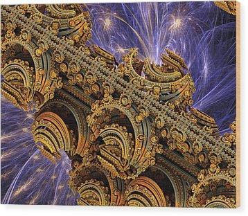 Bangkok Palace Wood Print by Pam Blackstone