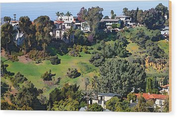 Bankers Hill San Diego Wood Print by Russ Harris