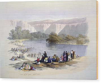 Banks Of The Jordan, 1839, Lithograph Wood Print by Everett