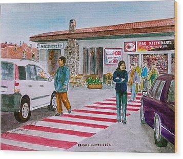 Bar Ristorante Mt. Etna Sicily Wood Print by Frank Hunter