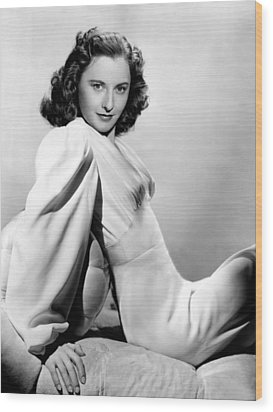 Barbara Stanwyck, Warner Brothers, 3746 Wood Print by Everett