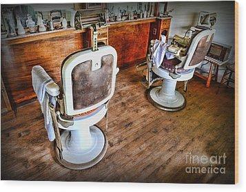 Barber - The Barber Shop 2 Wood Print by Paul Ward