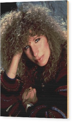 Barbra Streisand In Columbia Records Wood Print by Everett