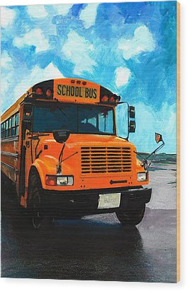 Barb's Bus Wood Print