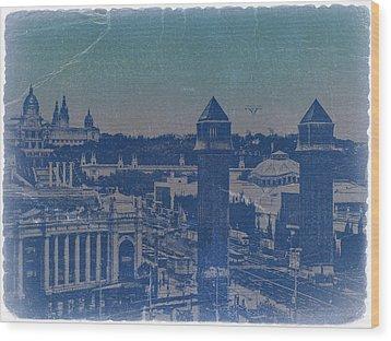 Barcelona Wood Print by Naxart Studio