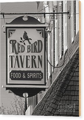 Wood Print featuring the photograph Barhopping At The Red Bird 1 by Lee Craig