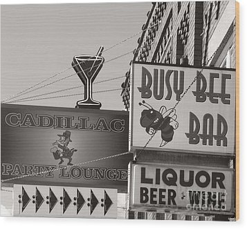 Wood Print featuring the photograph Barhopping Cadillac Style 1 by Lee Craig