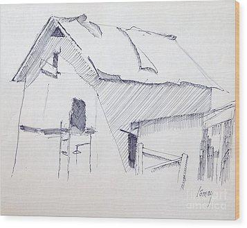 Barn 3 Wood Print by Rod Ismay