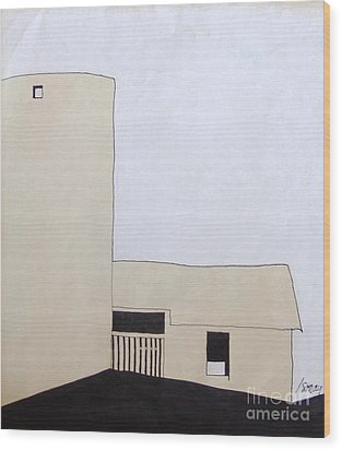 Barn 5 Wood Print by Rod Ismay