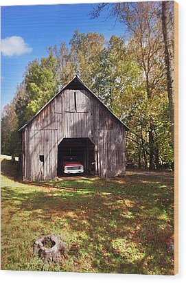 Wood Print featuring the photograph Barn An Chevy by Janice Spivey