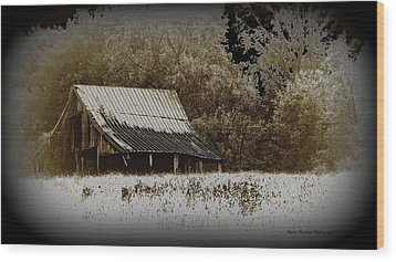 Barn In The Field Wood Print by Travis Truelove