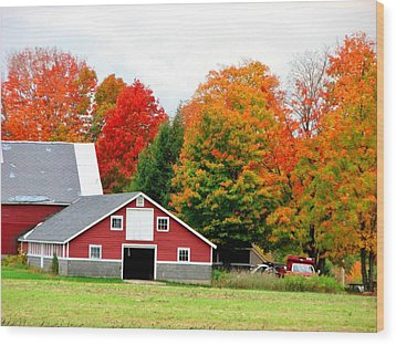 Barn Red Wood Print