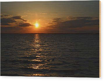 Barnegat Bay Sunset Wood Print