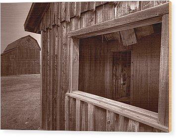 Barns Grand Tetons Wood Print by Steve Gadomski