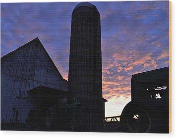 Barnyard Sunrise IIi Wood Print by JD Grimes