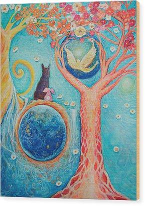 Baron's Painting Wood Print by Ashleigh Dyan Bayer