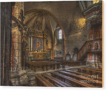 Baroque Church In Savoire France 2 Wood Print by Clare Bambers