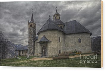 Baroque Church In Savoire France 6 Wood Print by Clare Bambers