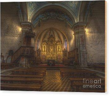 Baroque Church In Savoire France Wood Print
