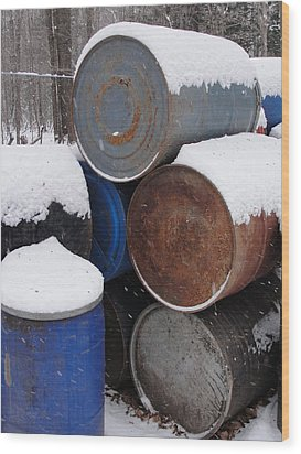 Wood Print featuring the photograph Barrel Of Food by Tiffany Erdman