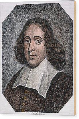 Baruch Spinoza (1632-1677) Wood Print by Granger