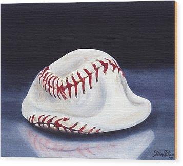 Baseball '04 Wood Print by Redlime Art