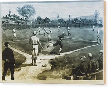 Baseball Wood Print by Bill Cannon