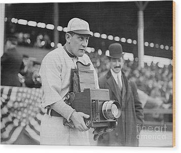 Baseball: Camera, C1911 Wood Print by Granger