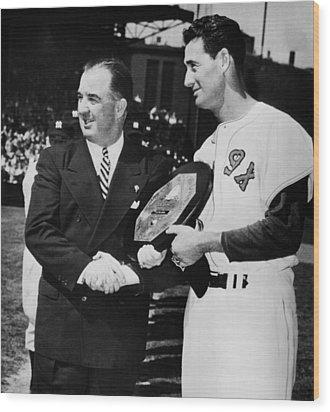 Baseball Commissioner Albert B Wood Print by Everett