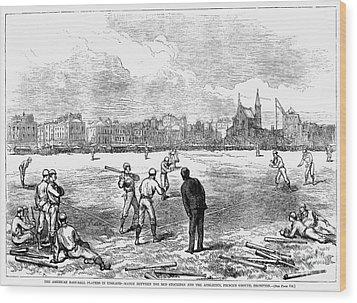 Baseball: England, 1874 Wood Print by Granger