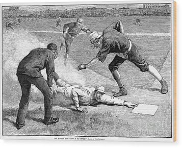 Baseball Game, 1885 Wood Print by Granger